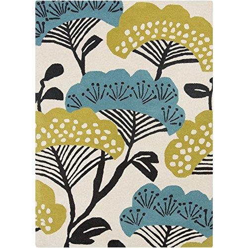 811 Black Olive - Surya SND4527-811 Sanderson Area Rug, 8' x 11', Olive/Teal/Beige/Black