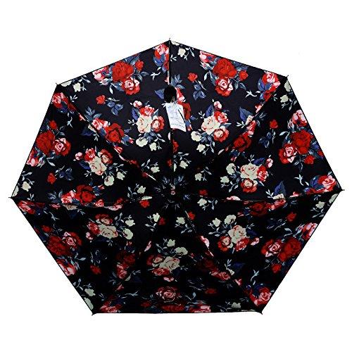 ZQ@QX Sun UV ombrelloni 3 ombrello pieghevole , Rosso creative