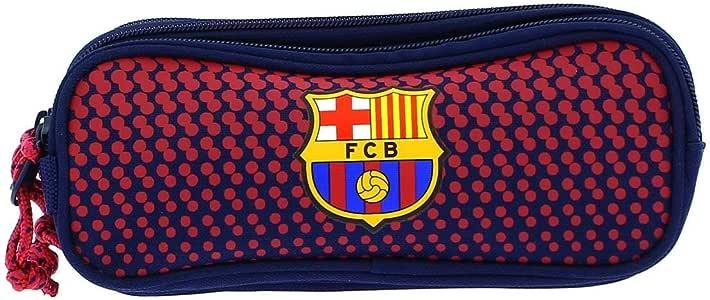 Safta Estuche F.C. Barcelona Corporativa Oficial Triple cremallera 210x70x85mm: Amazon.es: Oficina y papelería