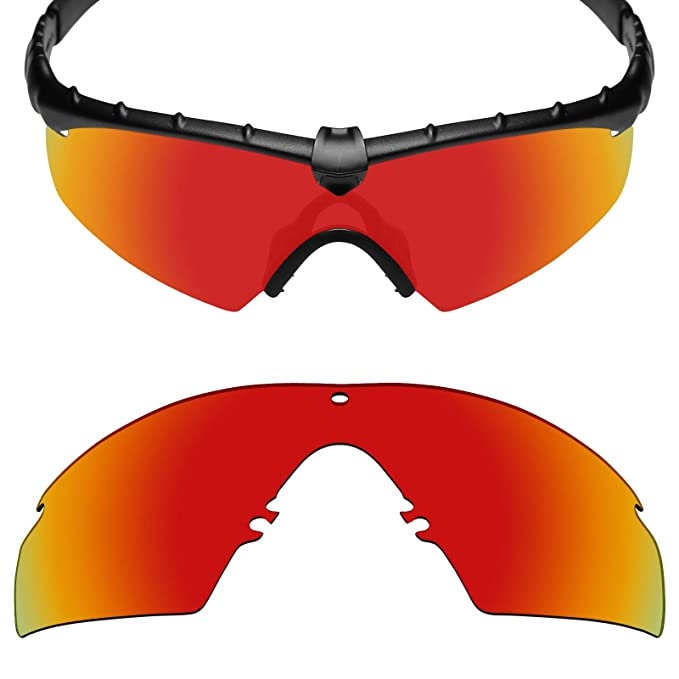 1197c4e742 MRY POLARIZED Replacement Lenses for Oakley Industrial M Frame 2.0  Sunglasses (Fire Red