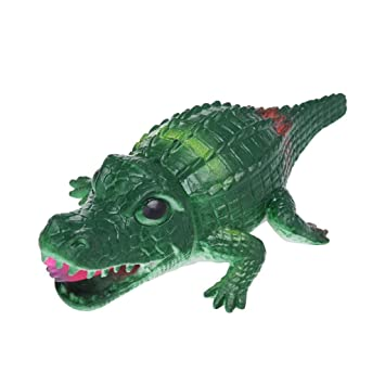 Squeeze Toy 14cm Crocodile Stress Ball Alternative Humorous Light Hearted Funny Toys (Green)