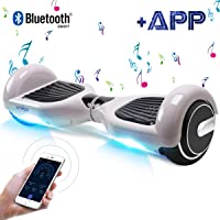 """Windgoo Hoverboard 6.5"""" App&Bluetooth Balance Board Patinete Eléctrico Scooter Talla LED 350W*2"""