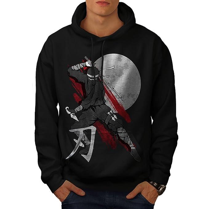 Amazon.com: wellcoda Moon Ninja Japan Mens Hoodie, Ninja ...