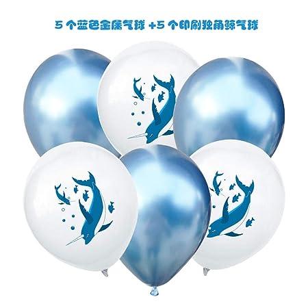 Globo combinación tema fiesta decoración azul narval globo ...