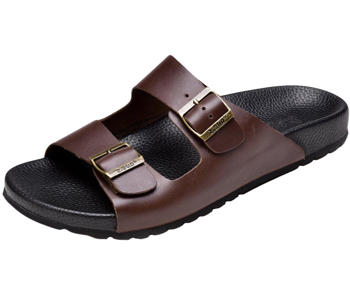 Insun Chanclas para Hombre Sandalias Zapatos de Playa y Piscina 40 EU|Marrón