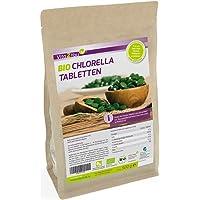 Bio Chlorella Tabletten 500g   400mg pro Tablette   ca. 1250 Presslinge   Aus Ökologischen Anbau   Rohkost im Zippbeutel