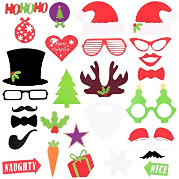 Photo Booth Weihnachten.Oulii Fotorequisiten Booth Weihnachten Witzige Lustige Bilder Kreative Foto Stutze Fur Party Feier Weihnachts Deko 28 Stuck