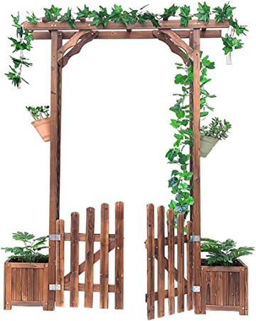 Arco de Rosas de Jardín Pérgola para Jardin con 2 Jardines Arco de ...