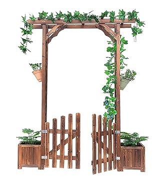 Arche Pour Rosiers Pergola En Bois Design Treillis Porte De