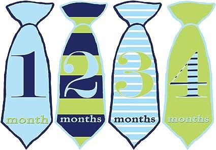 Baby Boy de ganso mumsy pegatinas mensuales Pegatinas de edad 1 ...