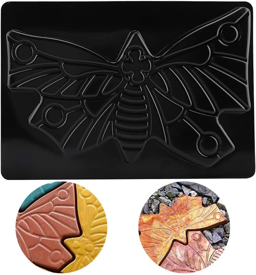 Outdoor Mould Butterfly Stepping Stone Mold Paving Floor Mould Colorful Floor Tile Plastic Floor Mould for Lawns Parks Gardens Beaches