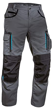 Pro Hard Wearing High Quality Work Trousers Cargo Knee Pad Pockets Pants Cordura