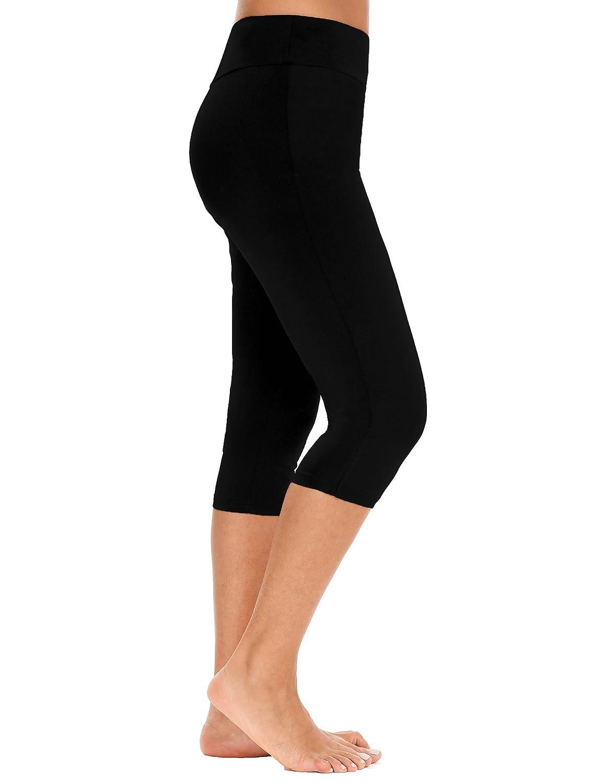 12b6ef9941417 Amazon.com  Zeagoo Women Swim Surfing Capris Pants UV Protection Tankini  Bottoms Legging Swimwear  Clothing