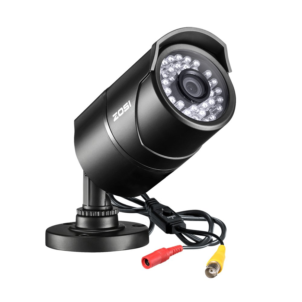 ZOSI 2.0 Megapixel HD 1080P 4 in 1 TVI/CVI/AHD/CVBS Security Cameras Day Night Waterproof Camera 100ft IR Distance, Aluminum Metal Housing,Compatible for HD-TVI, AHD, CVI, and CVBS/960H analog DVR by ZOSI