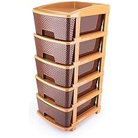 DARSHAN EXIM Plastic Modular Basket Drawer Chest Storage Rack System Large Stomo Multi Purpose chest of Trolley Foldable…