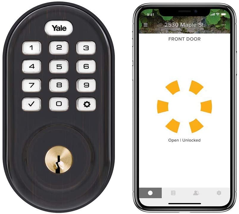 Yale Assure Lock Keypad - Wi-Fi Smart Lock - Works with Amazon Alexa, Google Assistant, HomeKit, Phillips Hue and Samsung SmartThings, Oil Rubbed Bronze