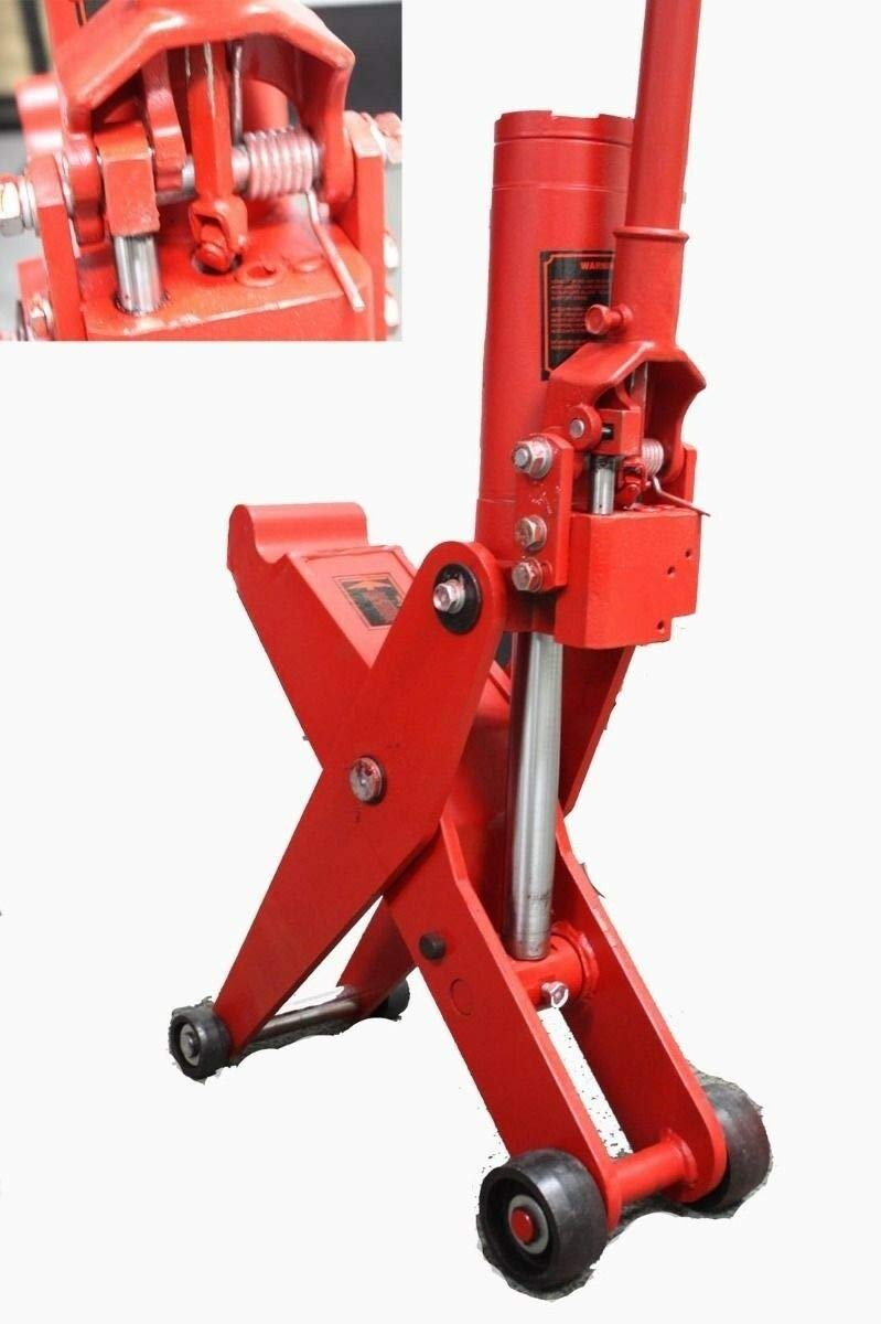 9TRADING 5 Ton Hydraulic Forklift Jack Fork Tractor Scissor Lift Jack 11000lbs 28''H