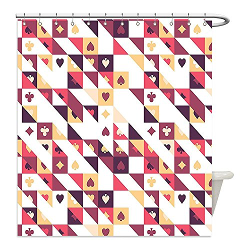 Current Event Costume Ideas (Liguo88 Custom Waterproof Bathroom Shower Curtain Polyester Casino Decorations Pattern Of The Cards And Triangles Winner Player Chances Events Creative Decor Decorative bathroom)
