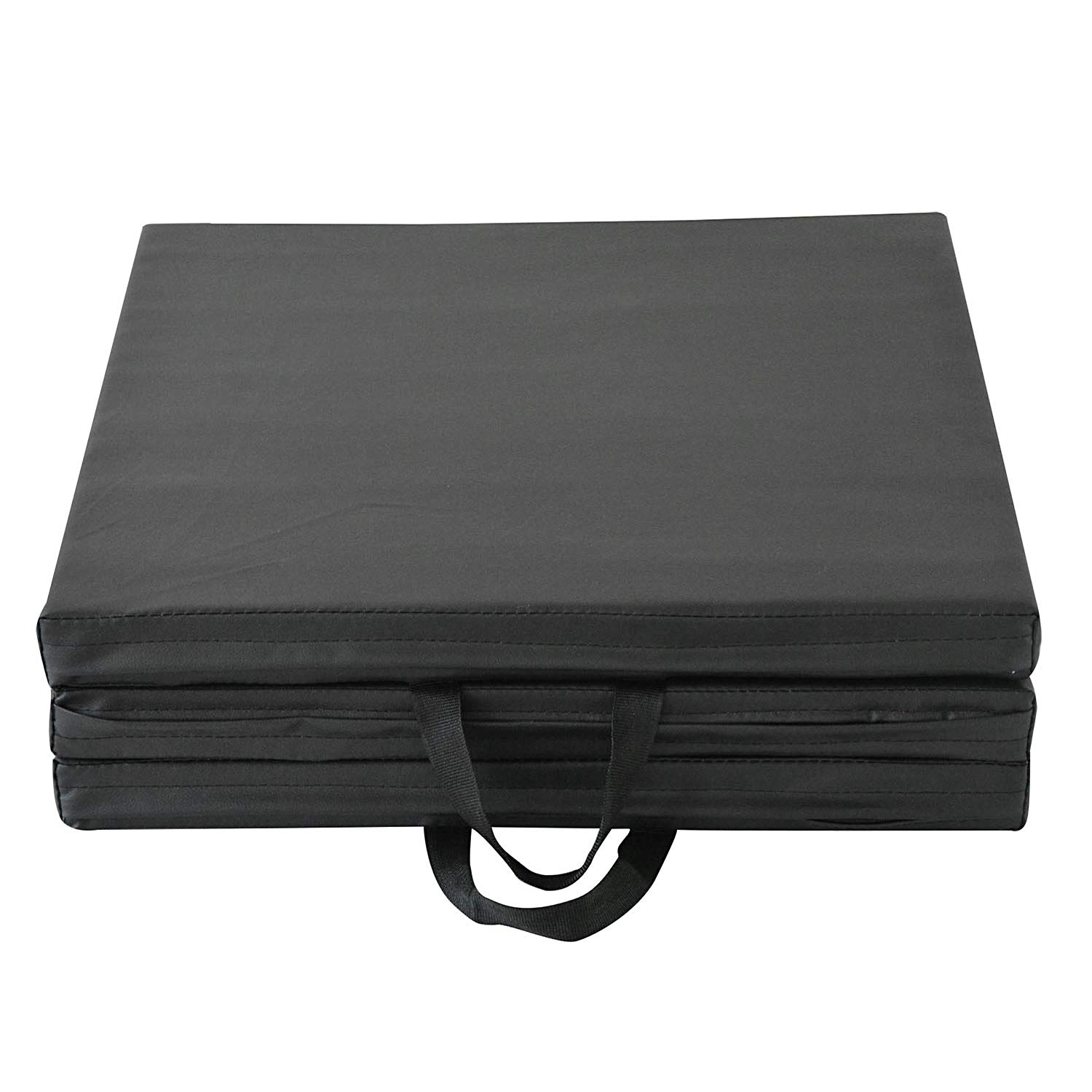 Modern-Depo Gymnastics Mat Tri-Fold 6'X2'X2 Thick with Handle, Waterproof Cover, 100% EPE Core (Black) by Modern-Depo (Image #5)