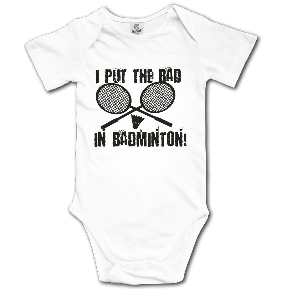Baby Toddler Climbing Bodysuit I Put Bad In Badminton Infant Climbing Short-Sleeve Onesie Jumpsuit
