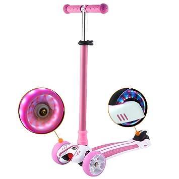 FORIN Scooter para Niños Monopatín 3 Ruedas PU con Luces, Patinete Altura Ajustable de 77-87cm,Carga Máxima: 50 kg(EU Stock): Amazon.es: Deportes y aire ...