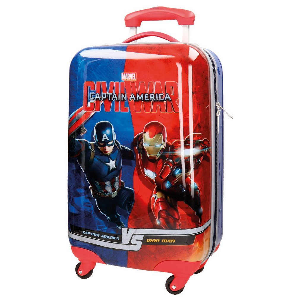 Marvel Kabinenkoffer Civil War Kindergepäck, 53 Liter, Blau