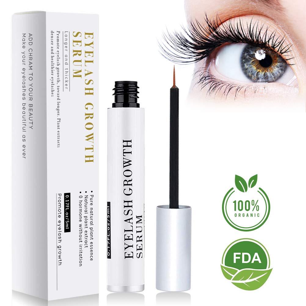 ce12b008184 BreoLife Eyelash Growth Serum Eyebrow Enhancer (5ml) - Best Eyelash Growth  Serum For Fuller & Thicker Lashes & Brows - Supports Eyelash Growth, Eyebrow  ...