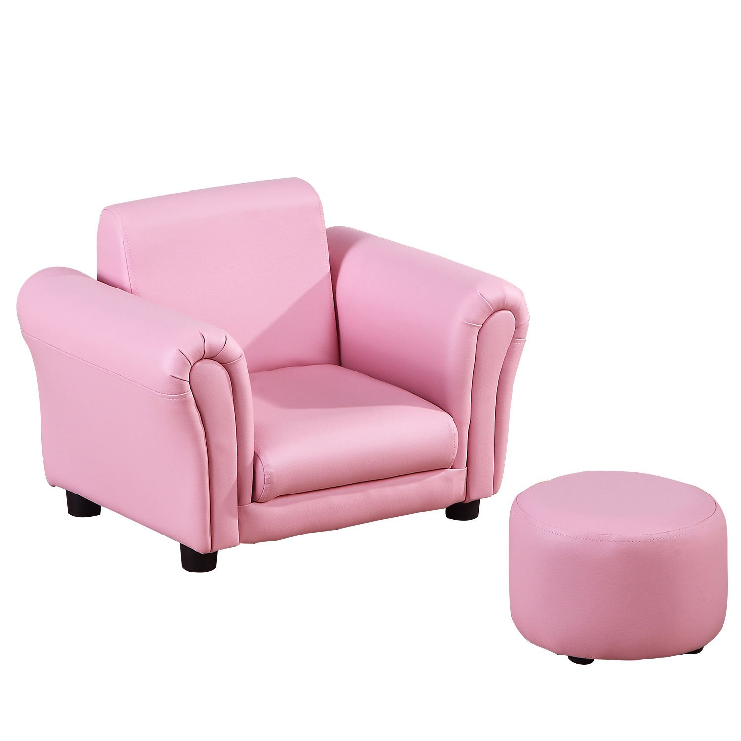 HOMCOM Single Seater Kids Sofa Set Children Couch Seating Game Chair Seat Armchair w/Free Footstool (Pink) Sold by MHSTAR UK310-008PK0331