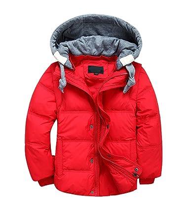 YoungSoul Kinder Daunenjacken Winterjacke mit Abnehmbarer Kapuze für Jungen Mädchen Kinderweste Daunenweste warm Herbstjacken