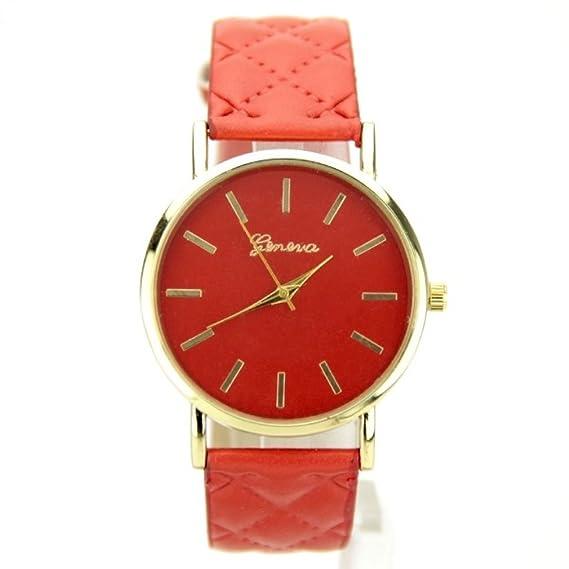 Reloj mujer pulsera piel sintética rojo Geneva My-Montre