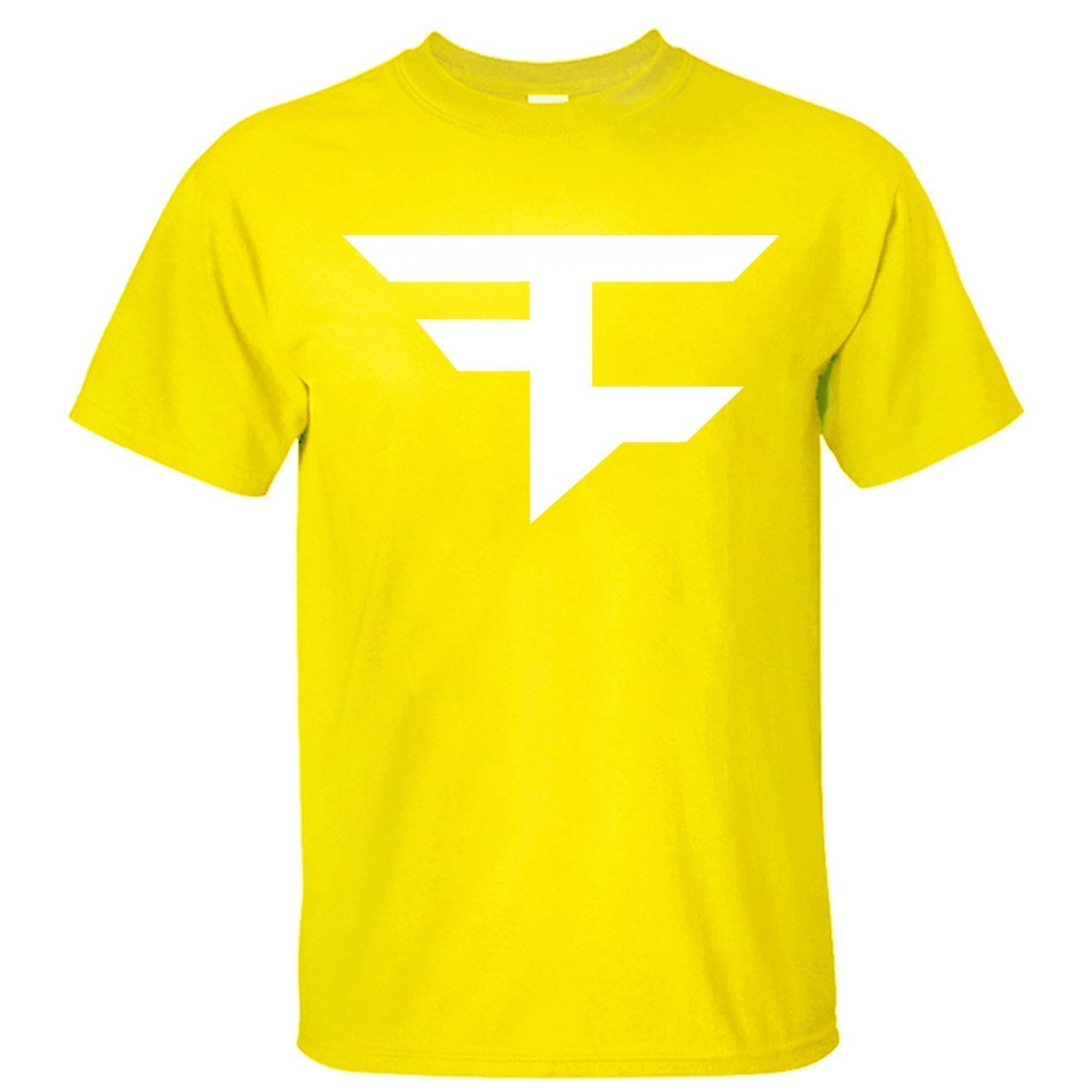 2dea086fa8e8 Amazon.com: XIXU Faze Clan Logo Men Custom T Shirt yellow S ...