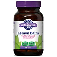 Oregon's Wild Harvest, Certified Organic Lemon Balm, Herbal Supplement for Stress Reduction and Relaxation, 1125 mgs, 90 Ct