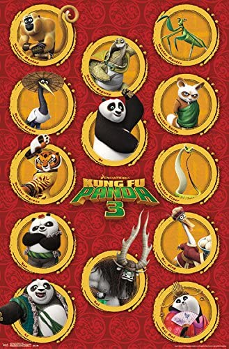 Amazon Com Trends International Kung Fu Panda 3 Grid Wall Poster 22 375 X 34 Home Kitchen