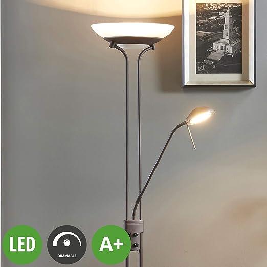 LED Lámpara de pie Yveta (Tradicional) en Marrón hecho de ...