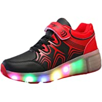 e47936766b2e TeraSeven Sneakers Unisex Bambino Ragazza Ragazzo Scarpe a rotelle  Skateboard Heelys Baskets modalità Luminose LED Scarpe