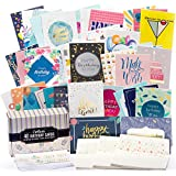 Happy Birthday Cards Bulk Premium Assortment - 40 UNIQUE DESIGNS, GOLD EMBELLISHMENTS, ENVELOPES WITH PATTERNS. The Ultimate Boxed Set of Bday Cards.