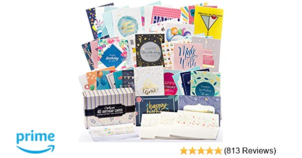 Amazon Happy Birthday Cards Bulk Premium Assortment