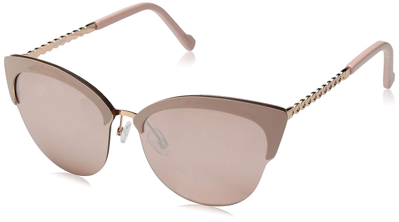 Steve Madden Women's Sm894104 Cateye Sunglasses, pink gold, 57 mm