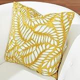 Frond Pillow-Solar/Aquamarine