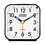 Amazon Price History for:Peakeep Small Battery Operated Analog Travel Alarm Clock Silent No Ticking, Lighted on Demand and Snooze, Beep Sounds, Gentle Wake, Ascending Alarm, Easy Set (Black)