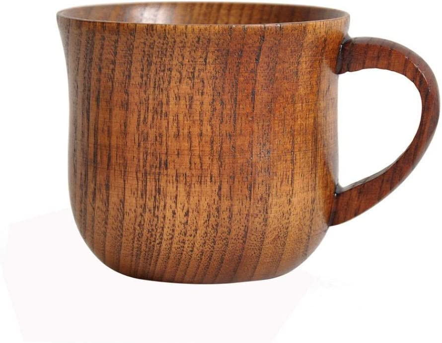 HANDMADE WOODEN COFFEE CUP NATURAL SOLID WOODEN BAMBOO DRINKING MUG TEA CAMPING CUP WINE BEER MUG SMALL DESK CUP HANDLE FOR MEN