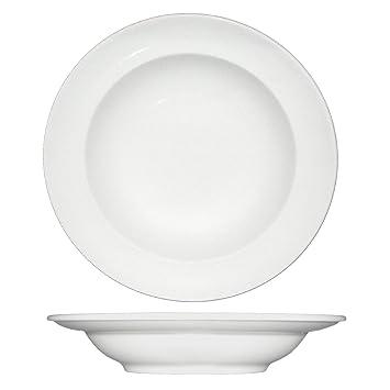 Fortessa Fortaluxe SuperWhite Vitrified China Dinnerware Cassia 9-Inch Rim Soup Bowl Set  sc 1 st  Amazon.com & Amazon.com | Fortessa Fortaluxe SuperWhite Vitrified China ...