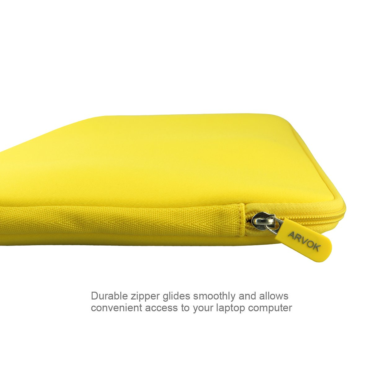 Arvok 15-15.6 Inch Laptop Sleeve Multi-Color /& Size Choices Case//Water-resistant Neoprene Notebook Computer Pocket Tablet Briefcase Carrying Bag//Pouch Skin Cover Yellow with Flower