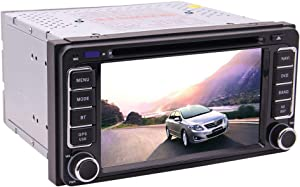 Car Radio Double Din Bluetooth GPS Car DVD Player for Toyota Prado Corolla Camry Hilux Vios Terios 4Runner with 6.2 inch Muti-Touchscreen + Free Map Support FM/AM RDS Receiver 1080P Video SWC