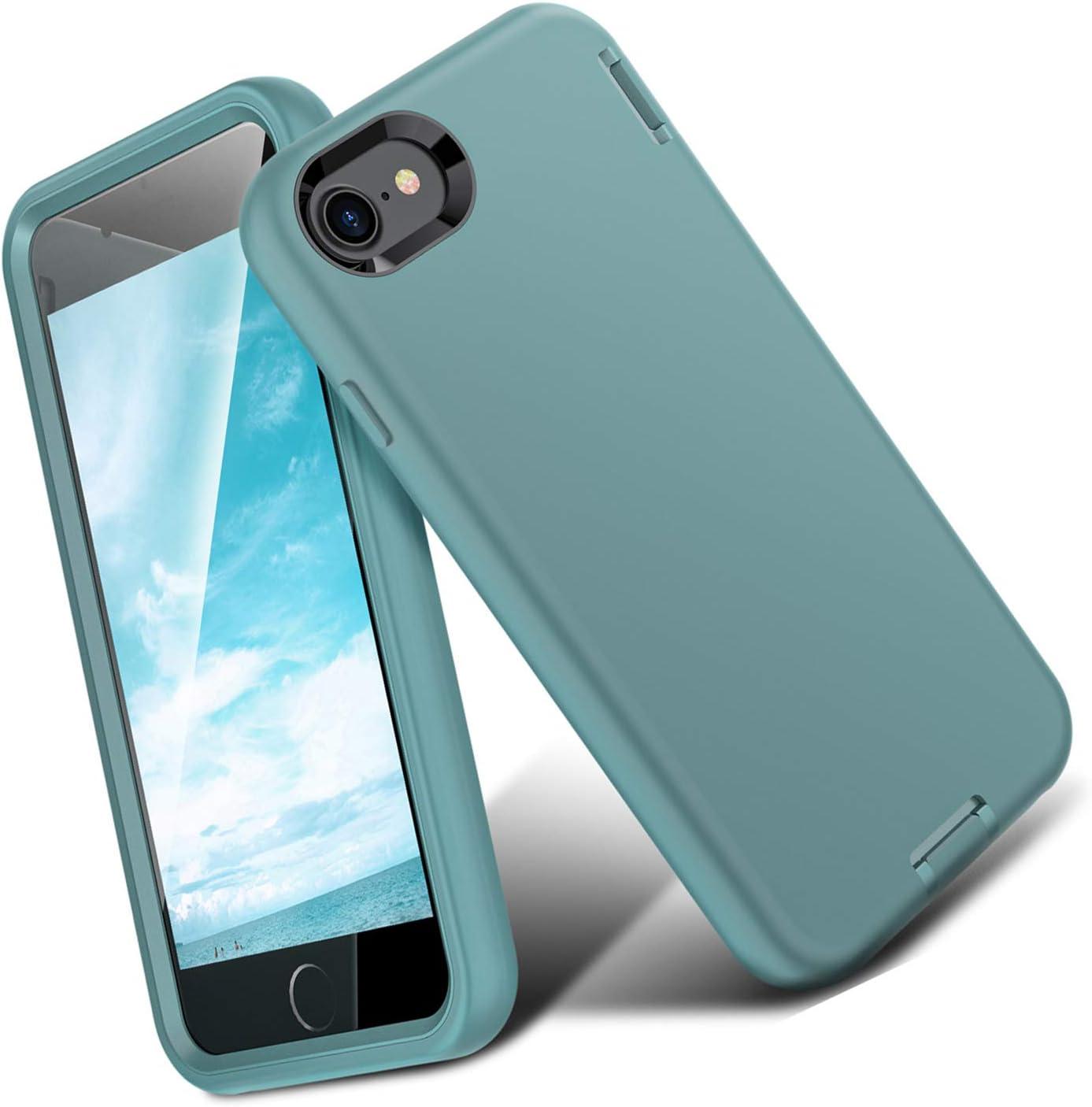 ORIbox Liquid Silicone iPhone 8 Plus Case & iPhone 7 Plus Case, Soft-Touch Finish of The Liquid Silicone Exterior Feels, No Regret Case for iPhone 8 Plus & iPhone 7 Plus for Women & Men, Green