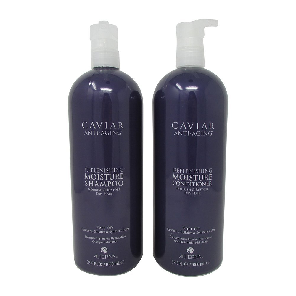 Alterna Caviar Anti-aging Replenishing Moisture Shampoo & Conditioner Duo - 33.8 oz/liter size by Alterna