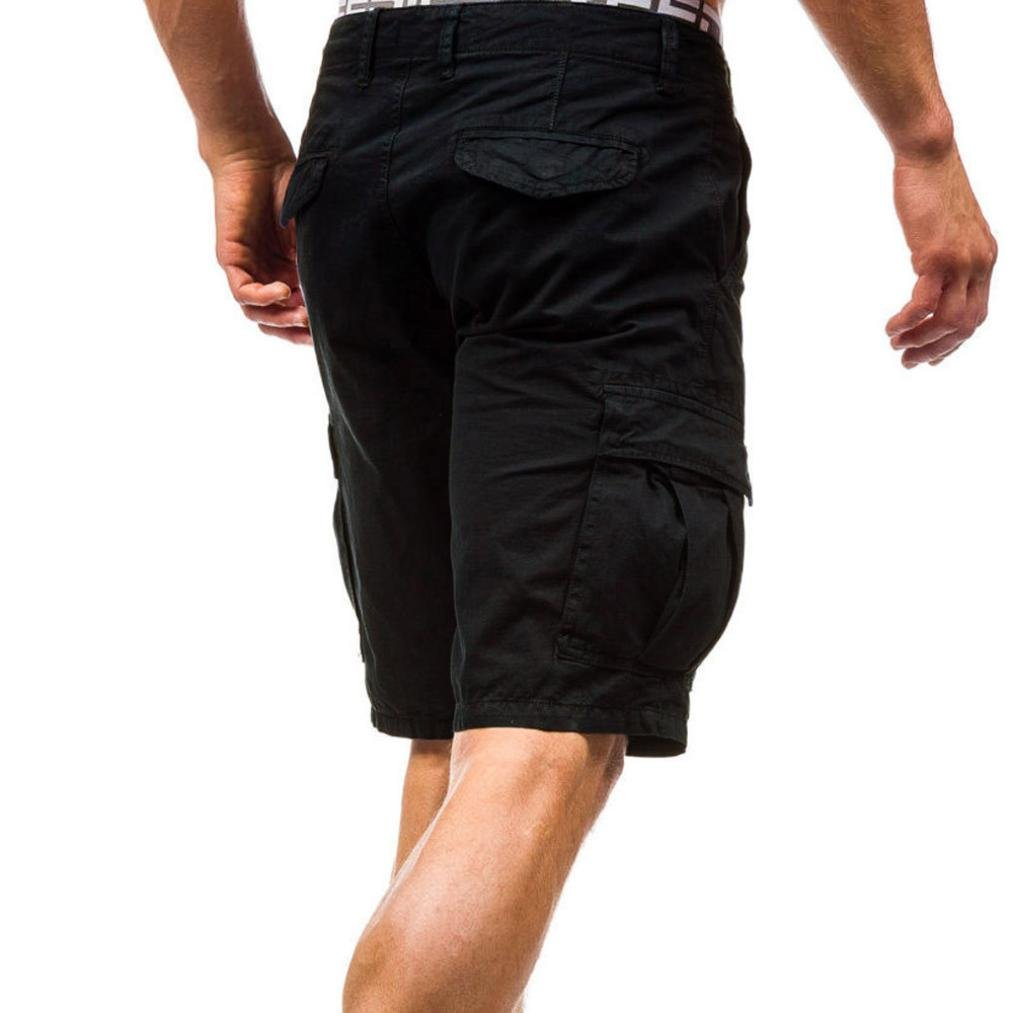 AMSKY Mens Lightweight Multi Pocket Casual Cargo Shorts Classic Fit Work Pants