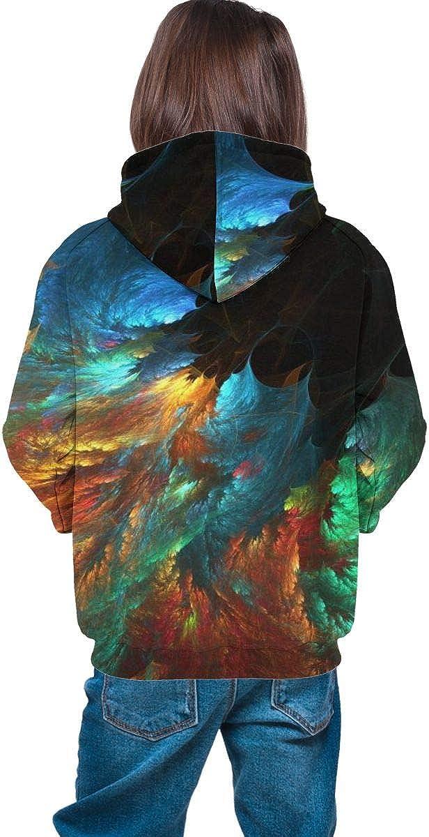 Kjiurhfyheuij Teen Pullover Hoodies with Pocket Peacock Soft Fleece Hooded Sweatshirt for Youth Teens Kids Boys Girls