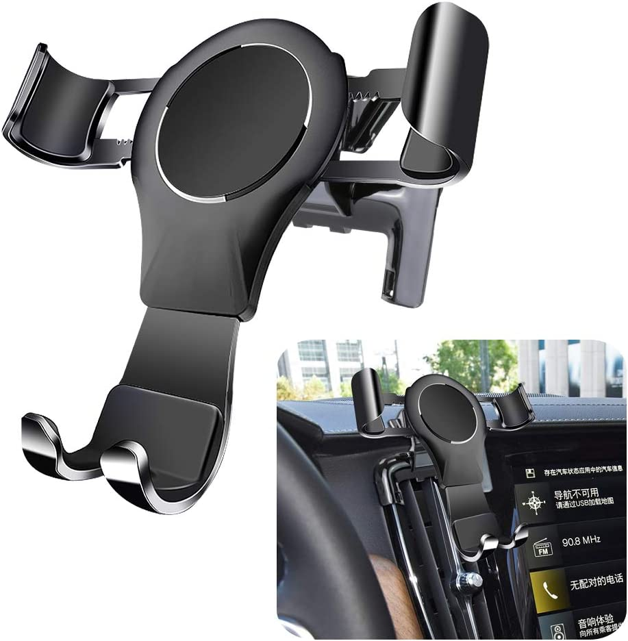 LUNQIN Car Phone Holder for Volvo S90 2017-2020 Auto Accessories Navigation Bracket Interior Decoration Mobile Cell Phone Mount