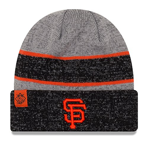 100 % Authentic, Officially Licensed NWT MLB San Francisco SF Giants New Era NENY Metallic Cuff Knit Beanie, One Size, Team (Team Knit Beanie)